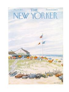 The New Yorker Cover - July 27, 1957 by Edna Eicke