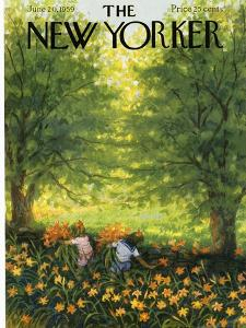The New Yorker Cover - June 20, 1959 by Edna Eicke