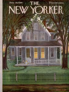 The New Yorker Cover - June 30, 1956 by Edna Eicke