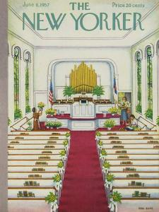 The New Yorker Cover - June 8, 1957 by Edna Eicke