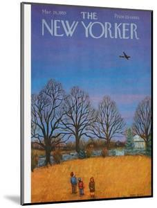 The New Yorker Cover - March 26, 1955 by Edna Eicke