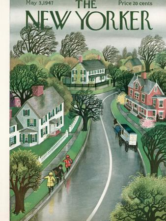 The New Yorker Cover - May 3, 1947 by Edna Eicke