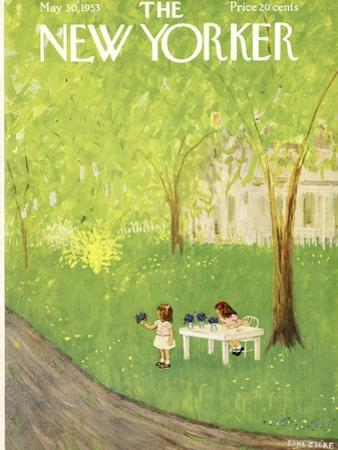 The New Yorker Cover - May 30, 1953 by Edna Eicke