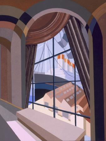 Large Window with a Seat, from 'Relais', C.1920S (Colour Litho) by Edouard Benedictus