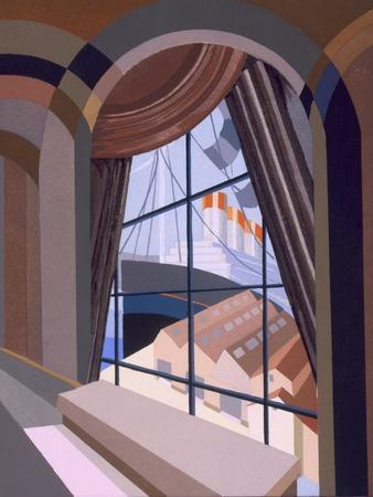 Large Window with a Seat, from 'Relais', C.1920S (Colour Litho)