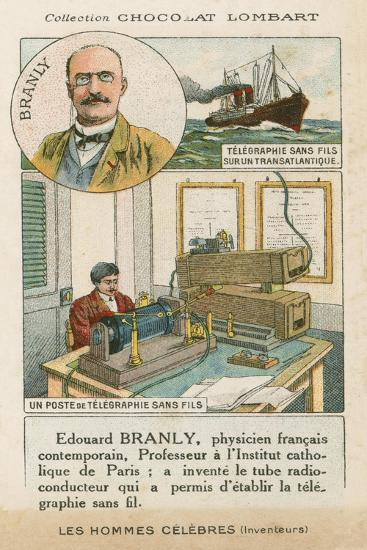 Edouard Branly, French Physicist and Inventor--Giclee Print