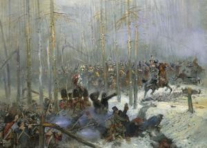 Cuirassier of Colonel Dubois Charging During Battle of Berezina, Nov. 28, 1812 by Edouard Detaille