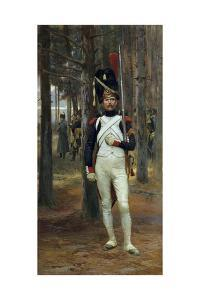 Foot Grenadier of the Imperial Guard by Edouard Detaille