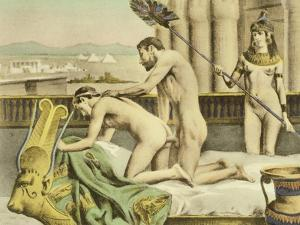 """Ancient Times Plate VII from """"De Figuris Veneris"""" by F.K Forberg by Edouard-henri Avril"""