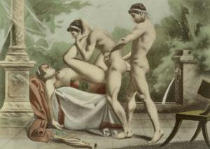 "Ancient Times, Plate XVIII from ""De Figuris Veneris"" by Edouard-henri Avril"