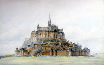 Project for Restoration of Mont Saint-Michel, March 1875 by Edouard-jules Corroyer