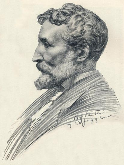 Édouard Lantéri, French-born British sculptor and medallist, c20th century (1914-1915)-Charles Sargeant Jagger-Giclee Print
