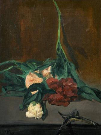 A Stem of Peonies and Pruning Shears, 1864 by Edouard Manet