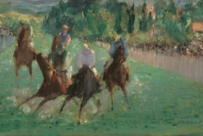 At the Races, c.1875 by Edouard Manet