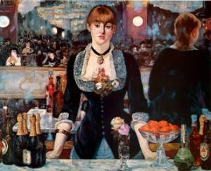 Bar at the Folies-Bergere by Edouard Manet