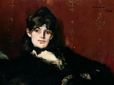 Berthe Morisot (1841-95) Reclining, 1873 by Edouard Manet