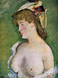Blonde Woman with Bare Breasts, 1878 by Edouard Manet