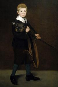 """""""Boy With a Sword"""" 1861 by Edouard Manet"""