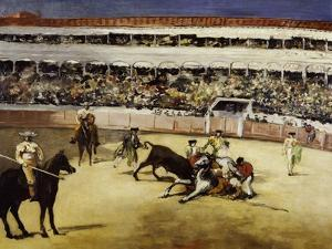 Bullfight, c.1865 by Edouard Manet