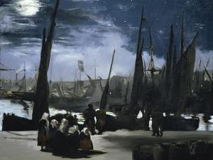 Clair de Lune Sur le Port de Boulogne by Edouard Manet