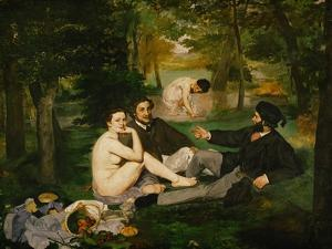Dejeuner Sur L'Herbe (Luncheon on the Grass), 1863 by Edouard Manet