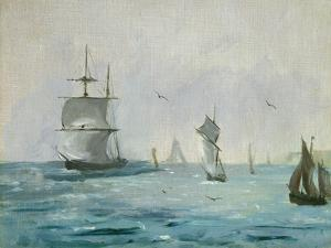 Fishing Boat Arriving, with the Wind Behind, 1864 by Edouard Manet