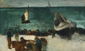 Fishing Boats and Fishermen by Edouard Manet