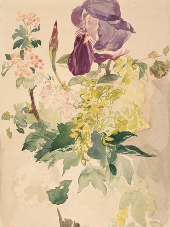 Flower Piece with Iris, Laburnum, and Geranium, 1880
