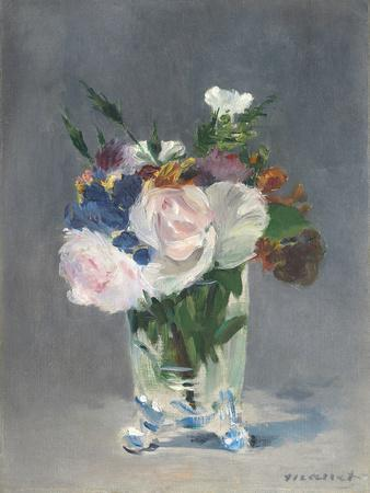 Flowers in a Crystal Vase, C.1882
