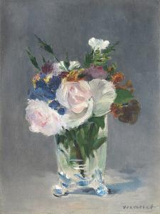 Flowers in a Crystal Vase, C.1882 by Edouard Manet