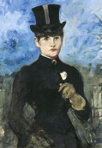 Horsewoman, Fullface by Edouard Manet