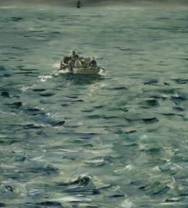 L'évasion de Rochefort,1880-1881. by Edouard Manet