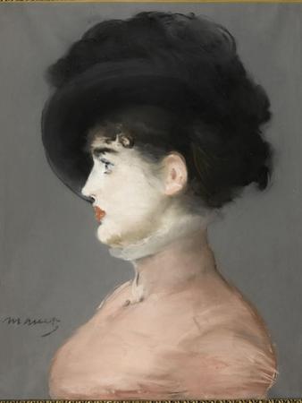 La femme au chapeau noir : portrait d'Irma Brunner la Viennoise by Edouard Manet