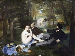 Luncheon on the Grass (Le Déjeuner Sur L'herbe) by ‰Douard Manet by Édouard Manet