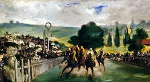 Manet: Longchamps, 1867 by Edouard Manet