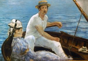 Manet: On A Boat, 1874 by Edouard Manet