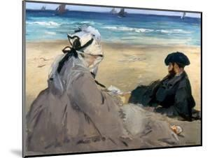Manet: On The Beach, 1873 by Edouard Manet