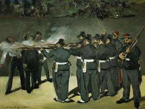 Oil Sketch for the Execution of Emperor Maximilian, 1867 by Edouard Manet