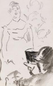 Parisian Cafe Singer; Chanteuse De Cafe-Concert by Edouard Manet