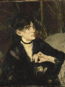 Portrait de Berthe Morisot à l'éventail by Edouard Manet