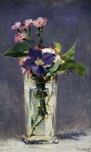 Ragged Robins and Clematis, c.1882 by Edouard Manet