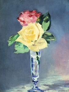 Roses in a Champaign-Glass, 1882 by Edouard Manet