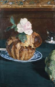 Still Life with Brioche, about 1880 by Edouard Manet