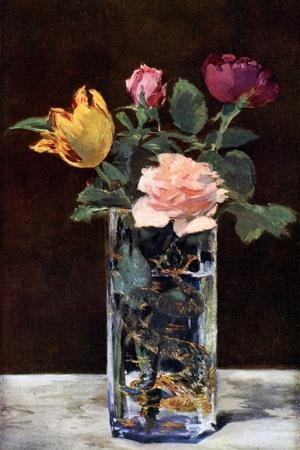 Still Life with Roses and Tulips in a Dragon Vase, 1882