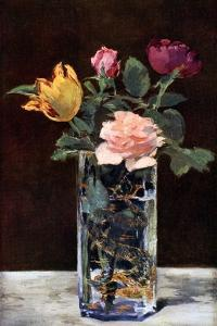 Still Life with Roses and Tulips in a Dragon Vase, 1882 by Edouard Manet