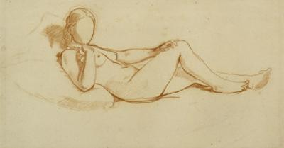 Study for the Olympia: a Woman Lying, Face Not Drawn