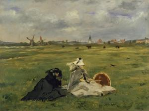 The Artist's Wife and Mother in the Meadow (Oder: the Swallows), 1873 by Edouard Manet