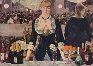 The Bar at the Folies-Bergere, 1882, (1938) by Edouard Manet
