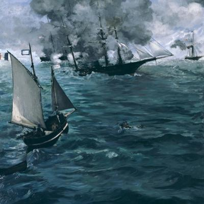 The Battle of the Kearsarge and the Alabama, 1864 by Edouard Manet