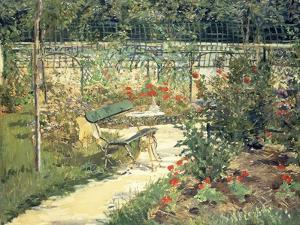The Bench in the Garden of Versailles, 1881 by Edouard Manet
